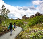 Dimmuborgir has walking trails suitable for all capabilities.