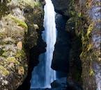 You can see the hidden gem, Gljúfrabúi waterfall on a South Coast tour