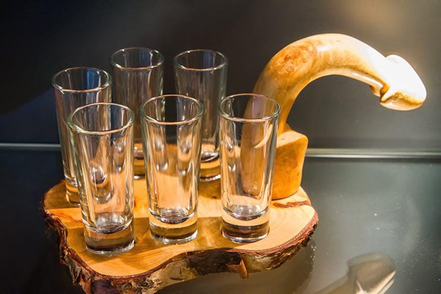 A schnapps tray, perfect for a family get-together, or perhaps, a nice gift for Grandma.