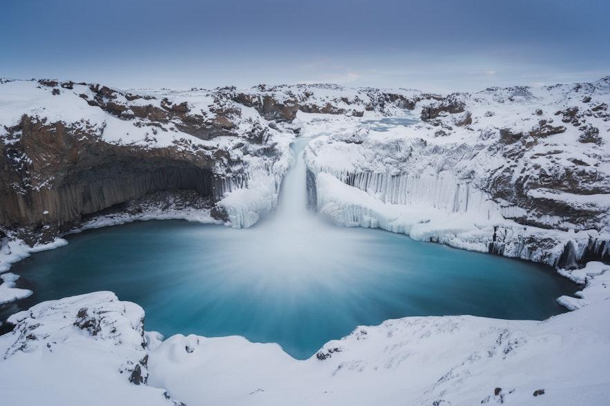 冰島冬季Aldeyjarfoss