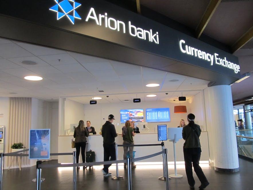 ケプラビーク国際空港にあるアリオン・バンキ