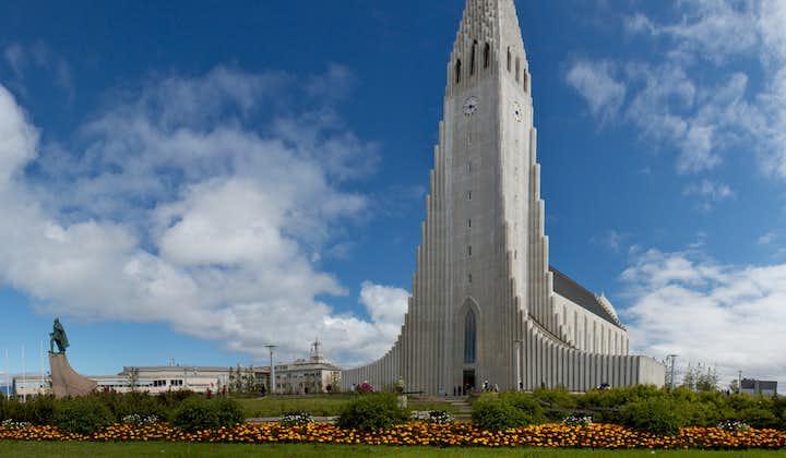 Hallgrímskirkja church in Reykjavík city was inspired by the waterfall Svartifoss in Skaftafell Nature Reserve