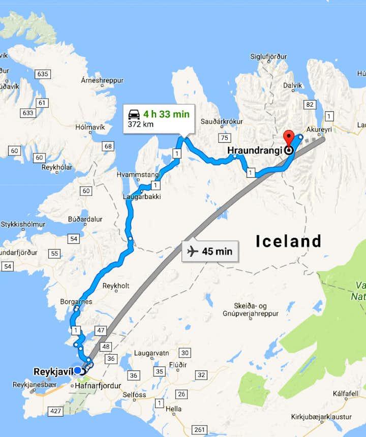 Hraundrangi in Öxnadalur and Hörgárdalur Valleys in North-Iceland