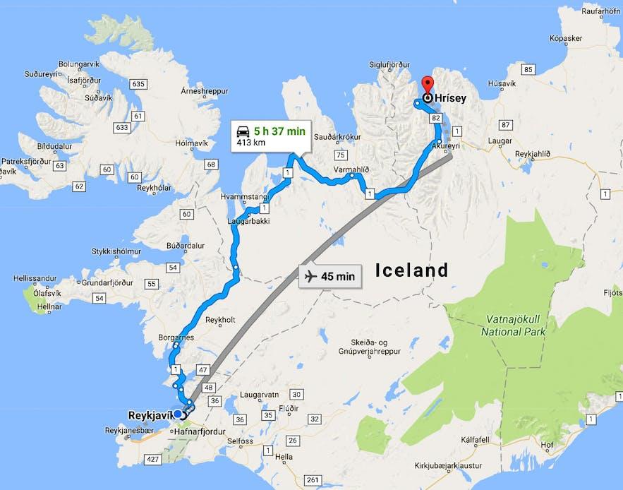 Eyjafjörður Fjord in North-Iceland - part I - Hrísey Island - the Pearl of Eyjafjörður