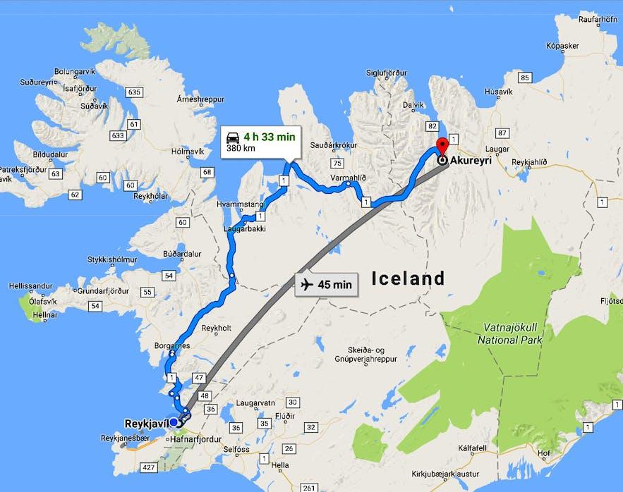 Eyjafjörður Fjord - Akureyri, the beautiful Capital City of North-Iceland