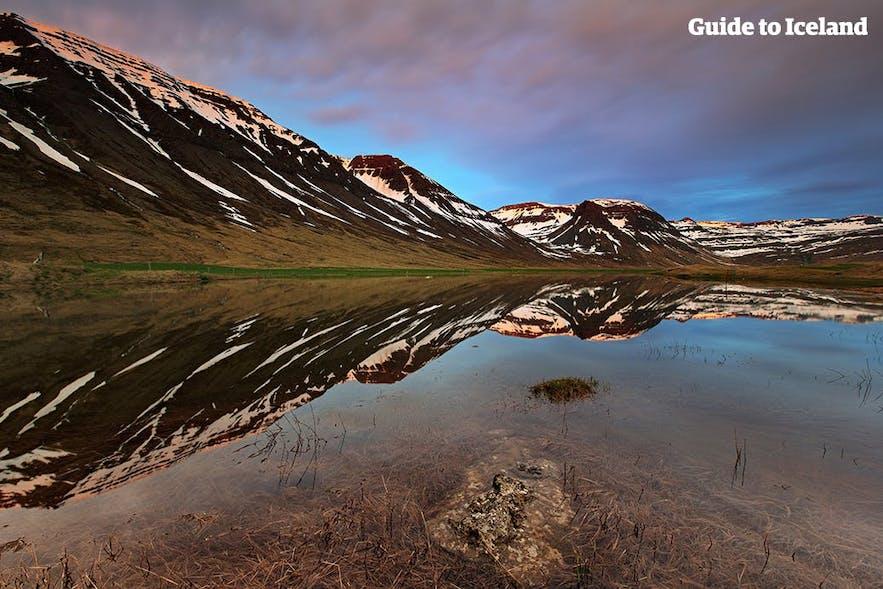 Fiordy Zachodnie na Islandii, ośnieżone szczyty