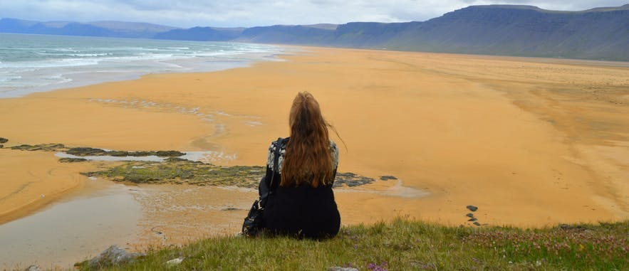 Plaża Raudassandur na Fiordach Zachodnich