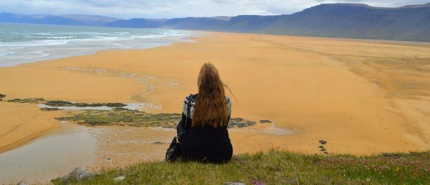 The beautiful seascapes over Rauðasandur