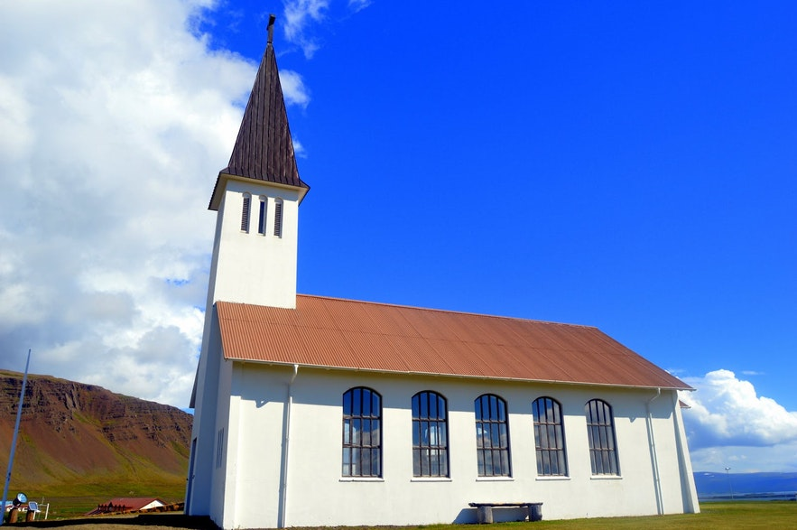 Die hübsche Kirche von Reykhólar
