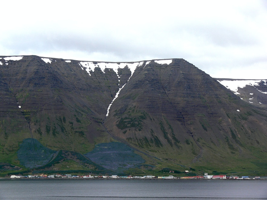 Miejscowość Flateyri na islandzkich Fiordach Zachodnich