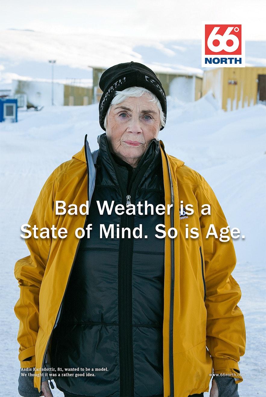 81 歲的冰島老人成為了66N 的廣告模特兒
