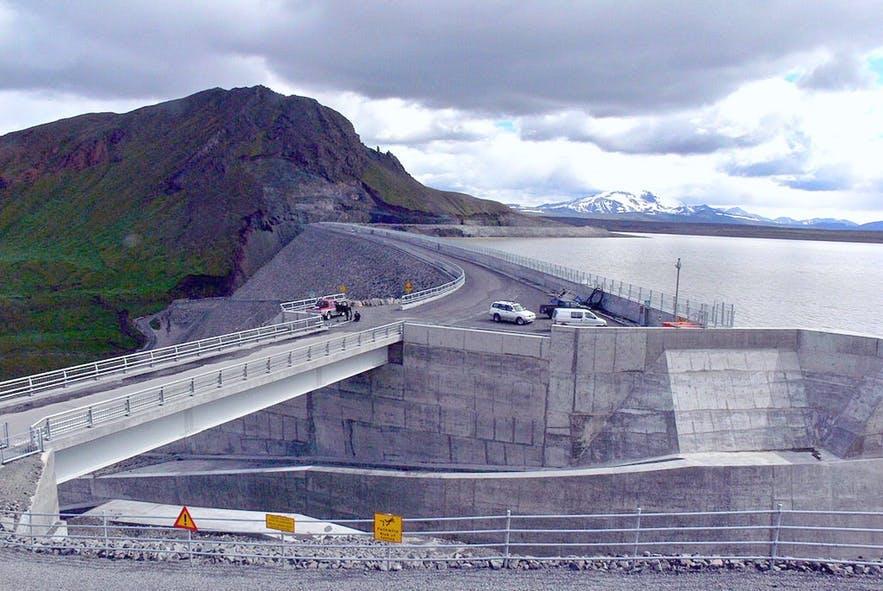 Kárahnjúkar Hydropower Plant under construction
