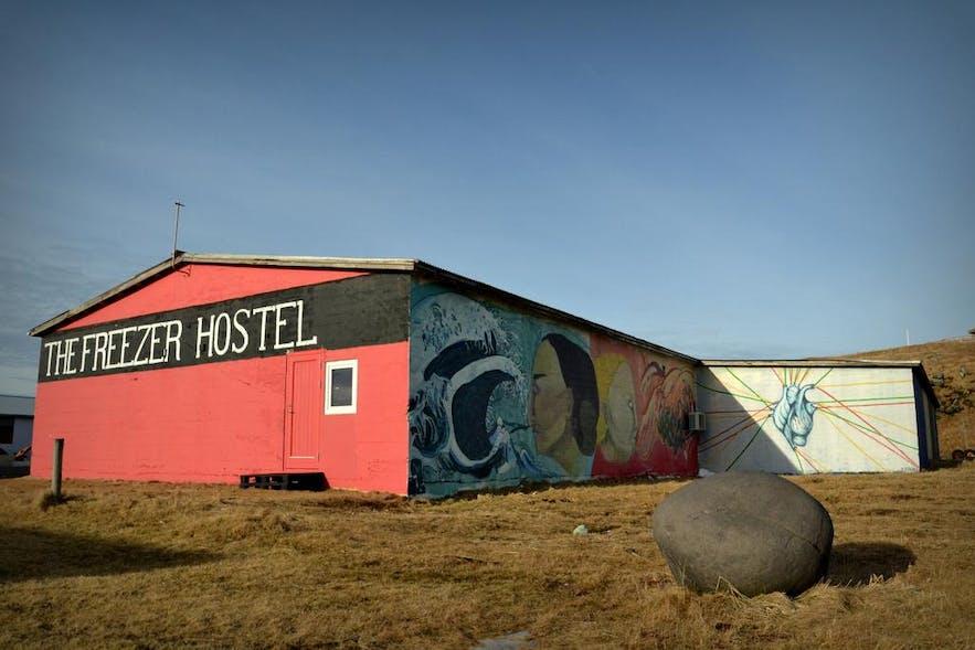 아이슬란드 서부 스나이펠스네스 반도의 프리저 호스텔