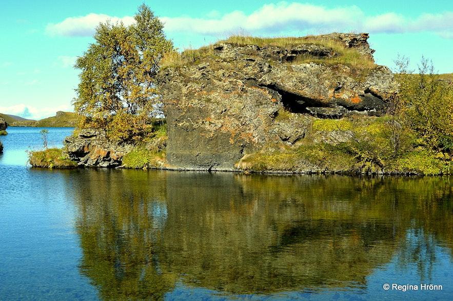 Lava pillars in the Mývatn area in northeast Iceland