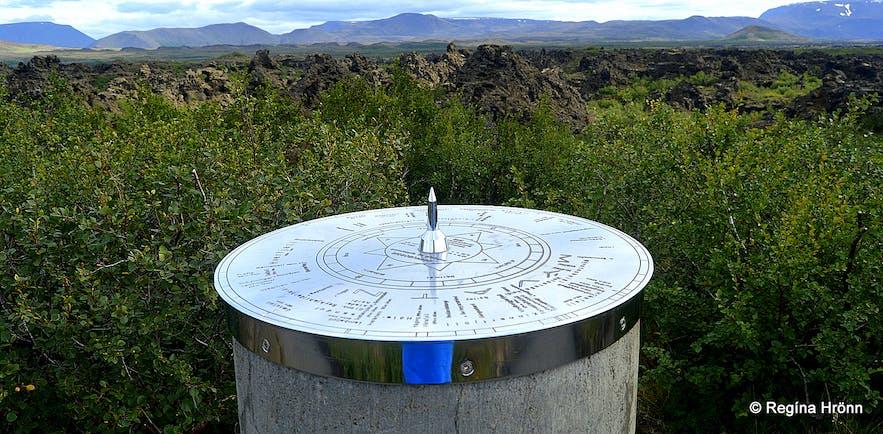 The view-dial at Dimmuborgir North-Iceland