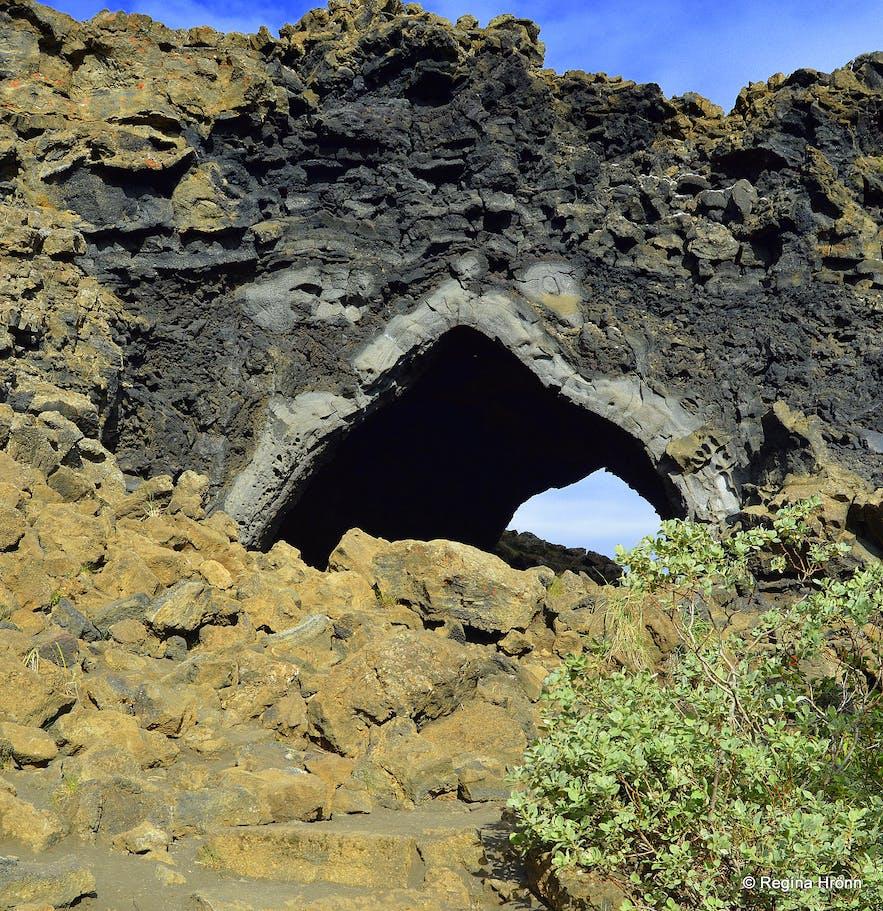 Dimmuborgir in the Mývatn area in northeast Iceland