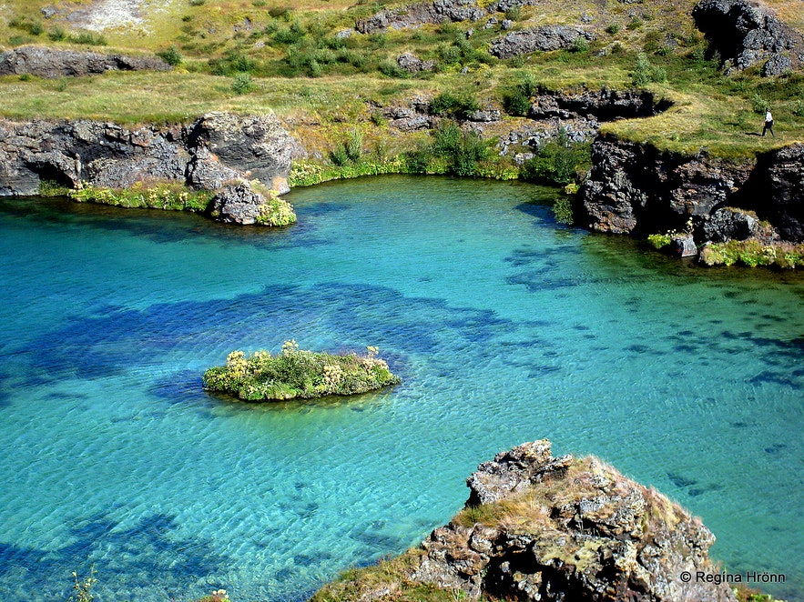 Höfði peninsula in the Mývatn area in northeast Iceland