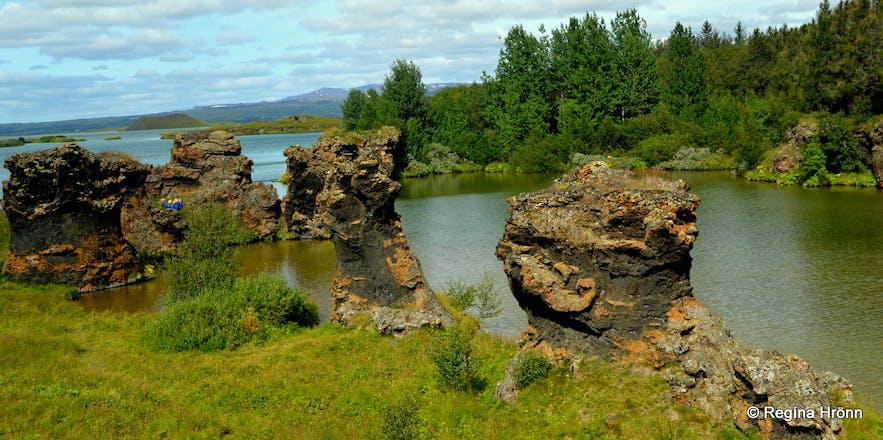 Kálfastrandavogar - Klasar lava pillars at Mývatn