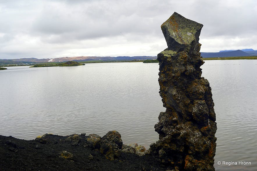 Lava pillar by Lake Mývatn