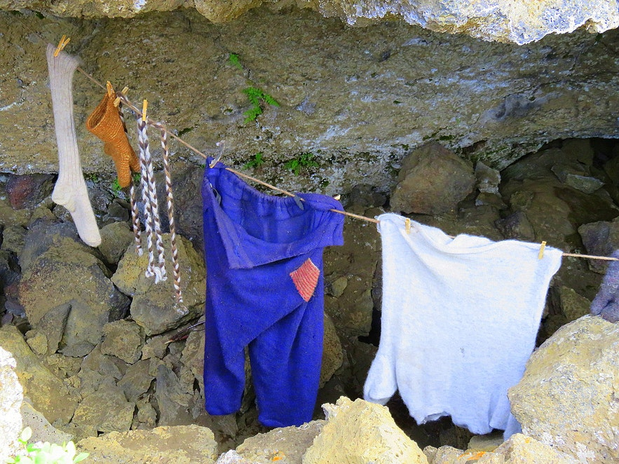 Inside the Yule lad cave at Dimmuborgir