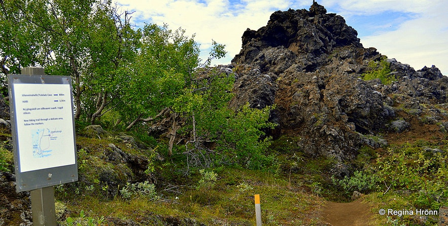 Directions to the Yule lad cave at Dimmuborgir