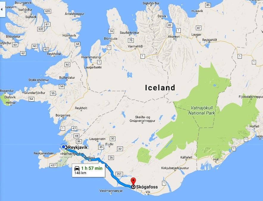 The beautiful Waterfalls of South-Iceland; Seljalandsfoss, Skógafoss ...