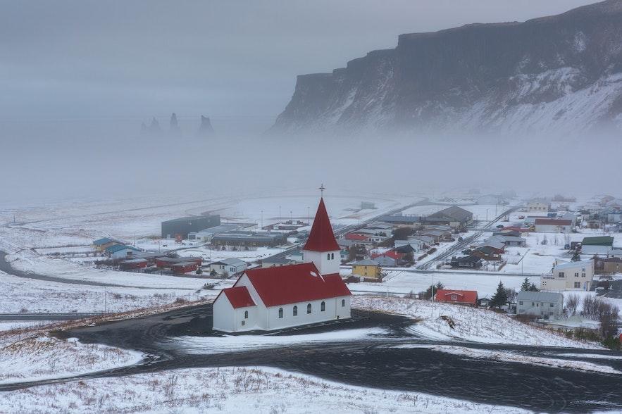 冰島冬季維克鎮