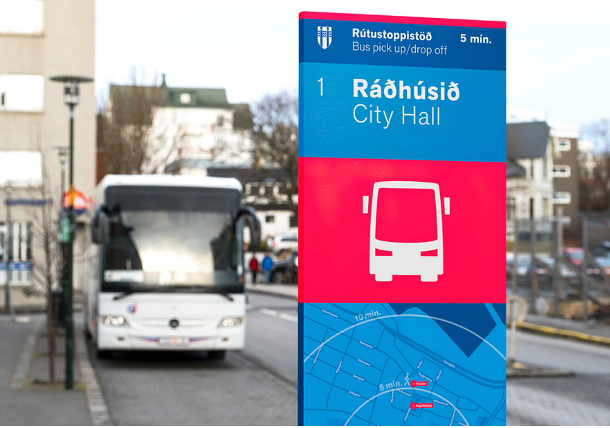 冰島旅遊巴士站站牌