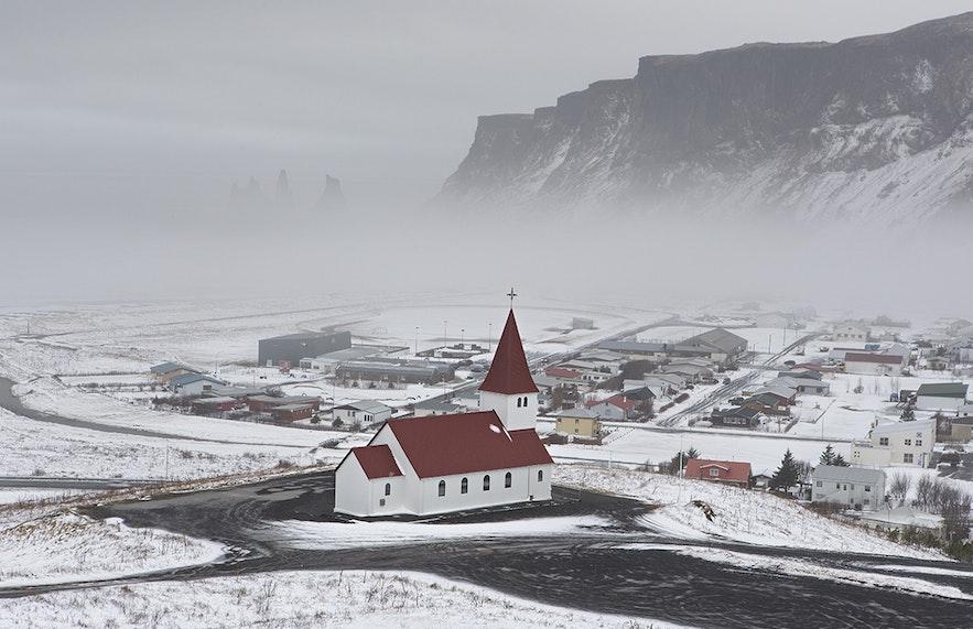 The same settlement in winter