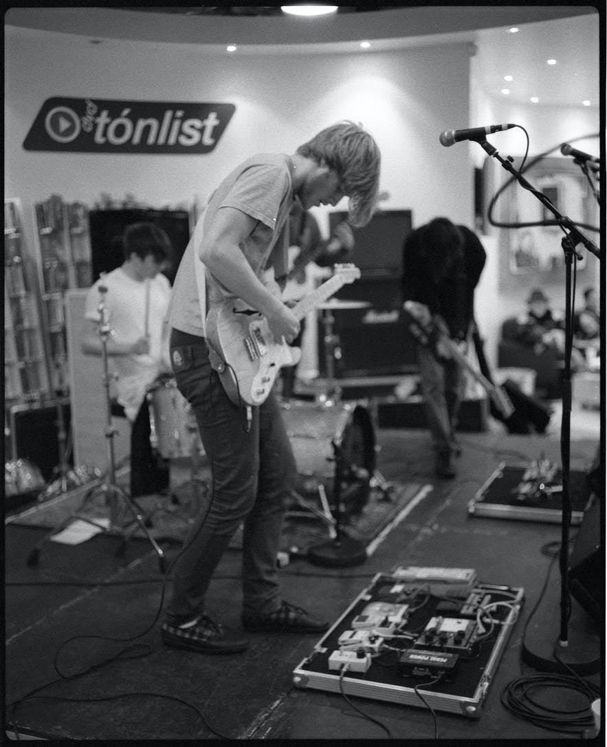 For a Minor Reflection, performing 'off-venue' in the 2008 Airwaves festival