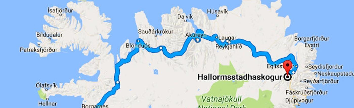 Hallormsstaðaskógur Forest in East-Iceland - Iceland's largest Forest