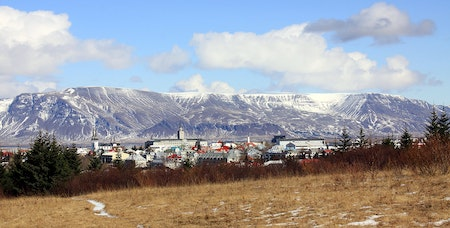Mnt Esja and Reykjavík. Photo from Wikimedia, Creative Commons, by MartinPutz
