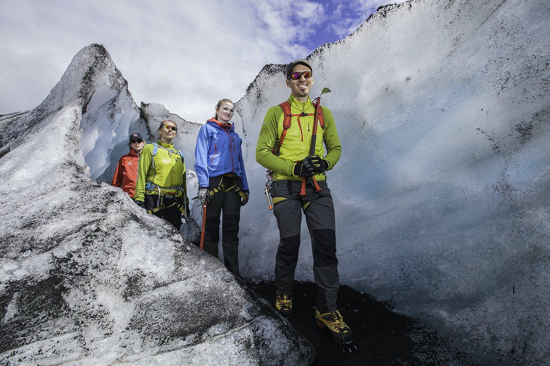 Marche sur le glacier Solheimajokull   Niveau modéré