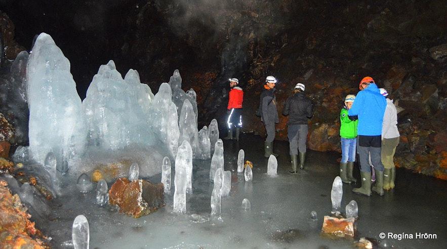 Lofthellir lava cave and the huge ice sculptures at Mývatn