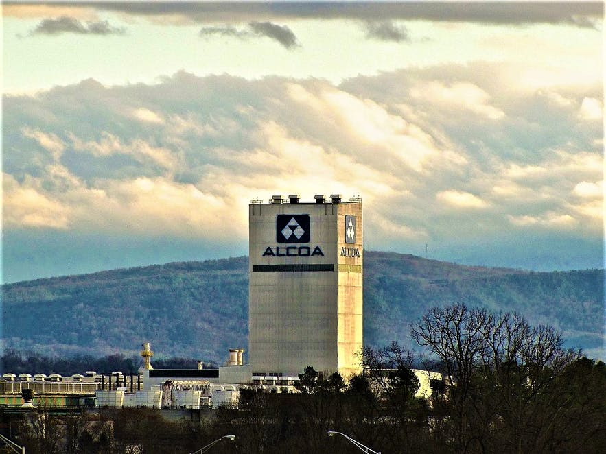The Alcoa plant tower in Tennessee, USA