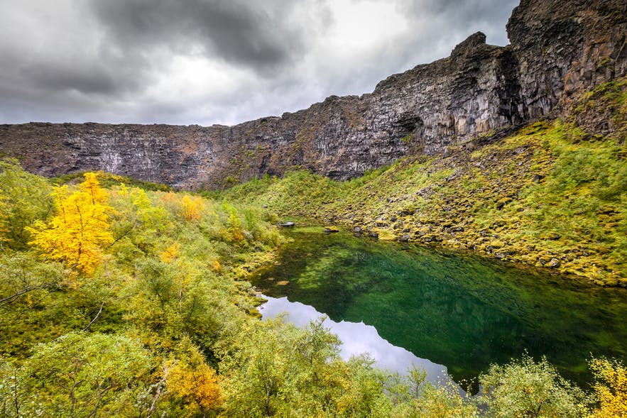Ásbyrgi Canyon in North Iceland