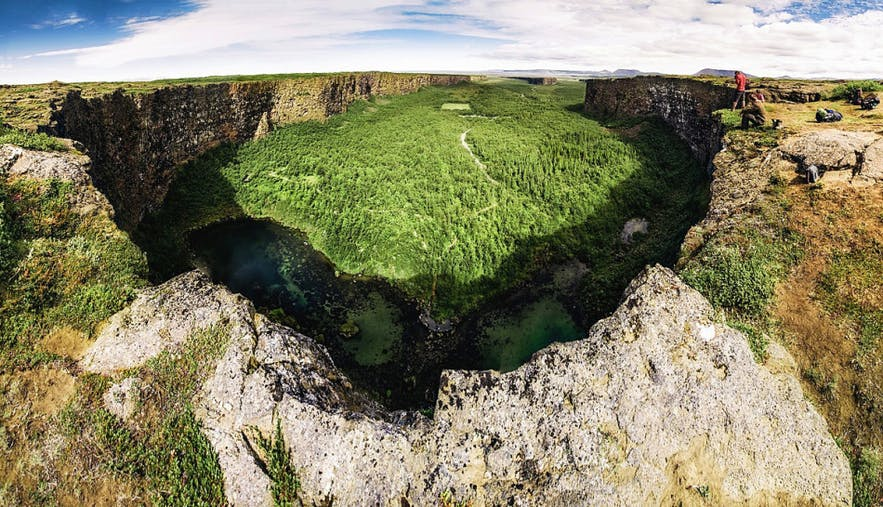 Ásbyrgi Canyon - photo credit MyVisitNorthIceland