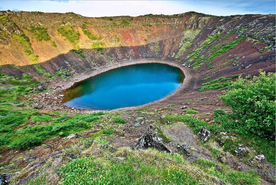 Kerið crater can be found on Grímsnes