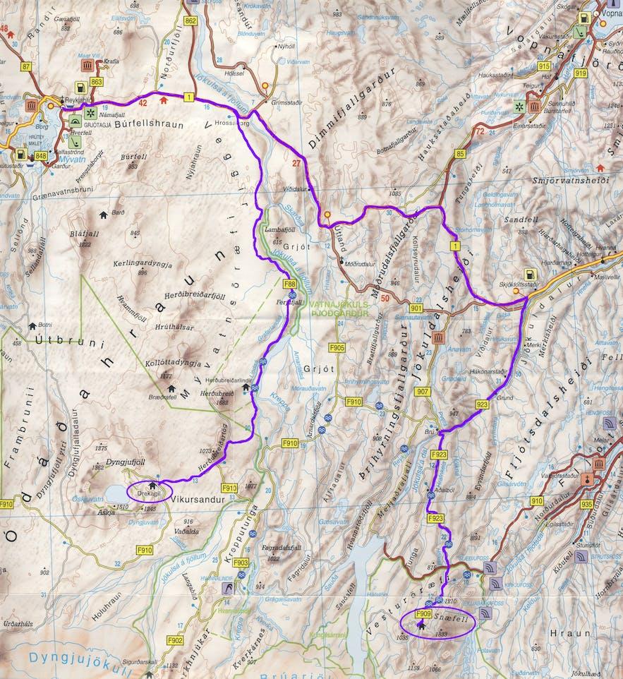 Day 20 of 3 week Iceland trip From Askja to Snæfell (319km)