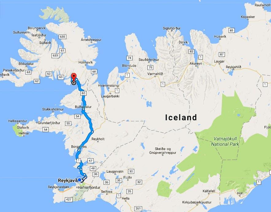 Bjartmarssteinn in the Westfjords of Iceland - the Market Town of the Elves
