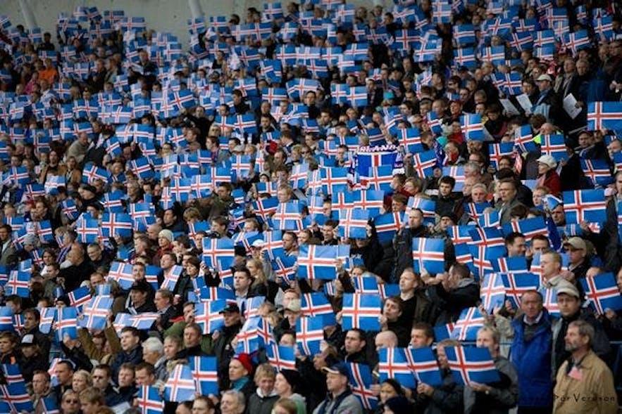 United Iceland football fans