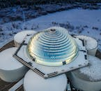 Perlan is a glass dome building built on top of six large water tanks.