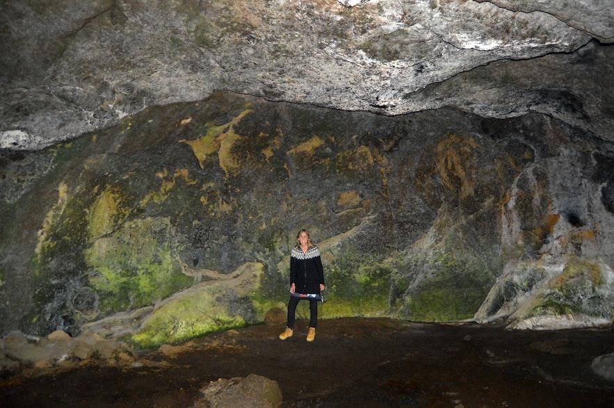Stórihellir cave South-Iceland