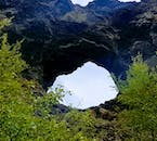 North Iceland's 'Dark Fortress', Dimmuborgir, is a spectacular field of dramatic lava formations.