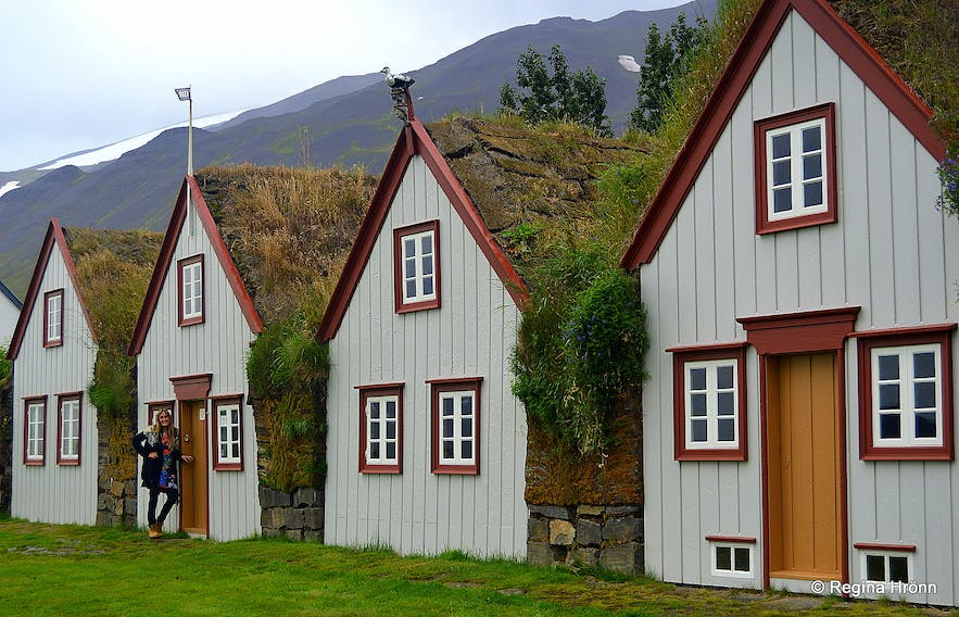 The Beautiful Laufás Turf House in Eyjafjörður in North-Iceland