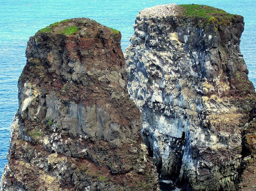 Rauðinúpur Cape and the 2 Sea Stacks on Melrakkaslétta in North-East Iceland