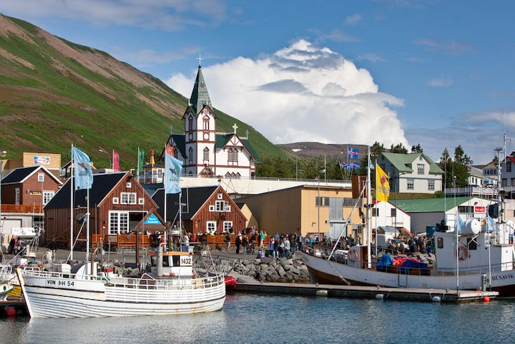 Húsavík is widely considered to be the whale watching capital of Iceland, given the wealth of species that live around there.