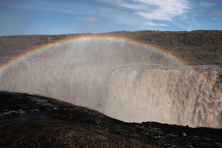 Dettifoss is Europe's most powerful waterfall, and requires a scenic walk through a volcanic landscape in order to reach it.