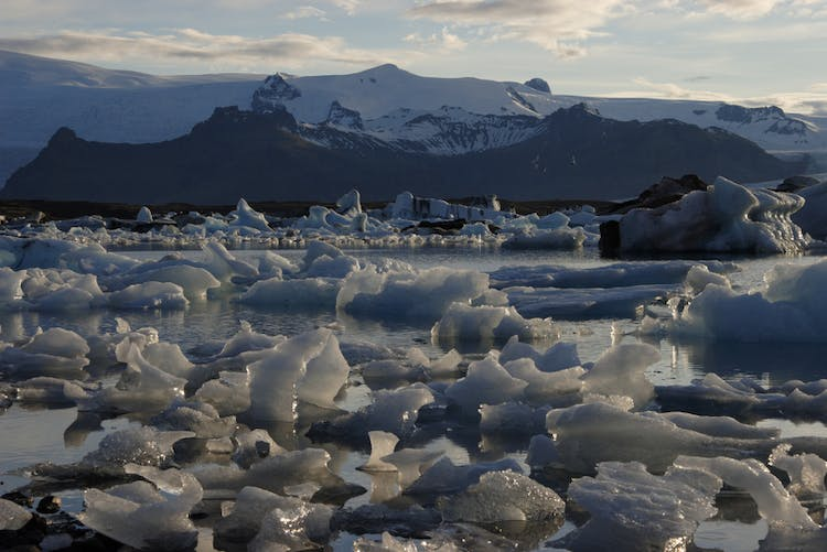 Jökulsárlón glacial lagoon and the nearby Diamond Beach are two of the most popular tourist attractions on the South Coast.