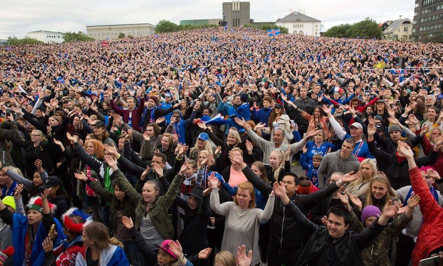冰島2016歐洲杯迎接國家隊回國